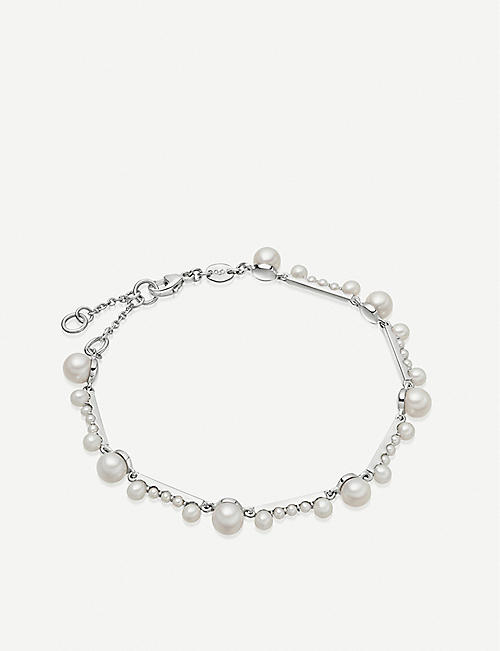 LINKS OF LONDON Orbs sterling silver and pearl bracelet