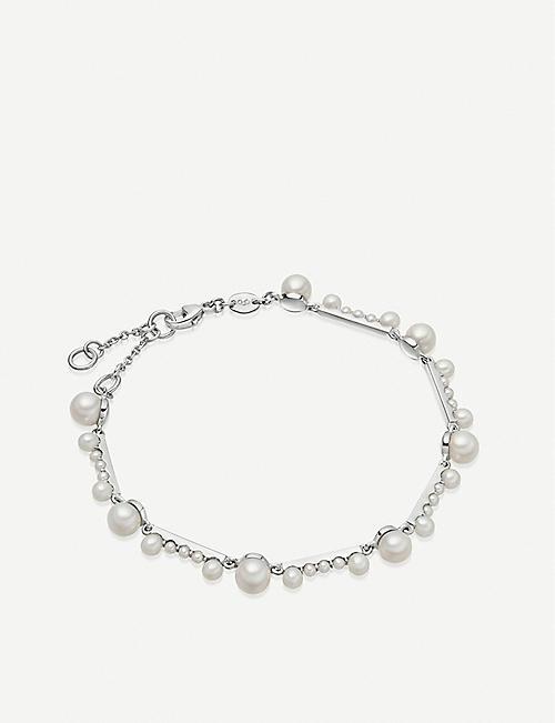 681860668 LINKS OF LONDON Orbs sterling silver and pearl bracelet