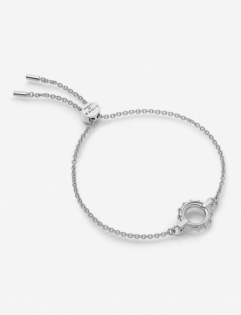 LINKS OF LONDON: Brutalist sterling silver toggle bracelet