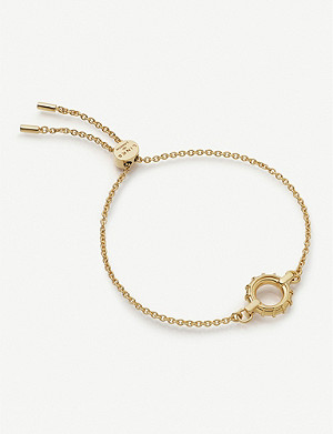 LINKS OF LONDON Brutalist 18ct yellow gold-vermeil toggle bracelet