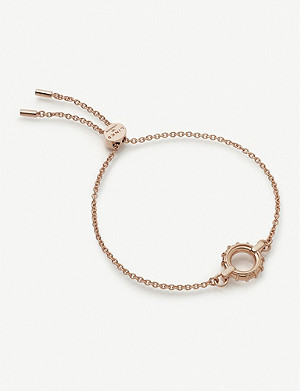 LINKS OF LONDON Brutalist 18ct rose gold-vermeil toggle bracelet