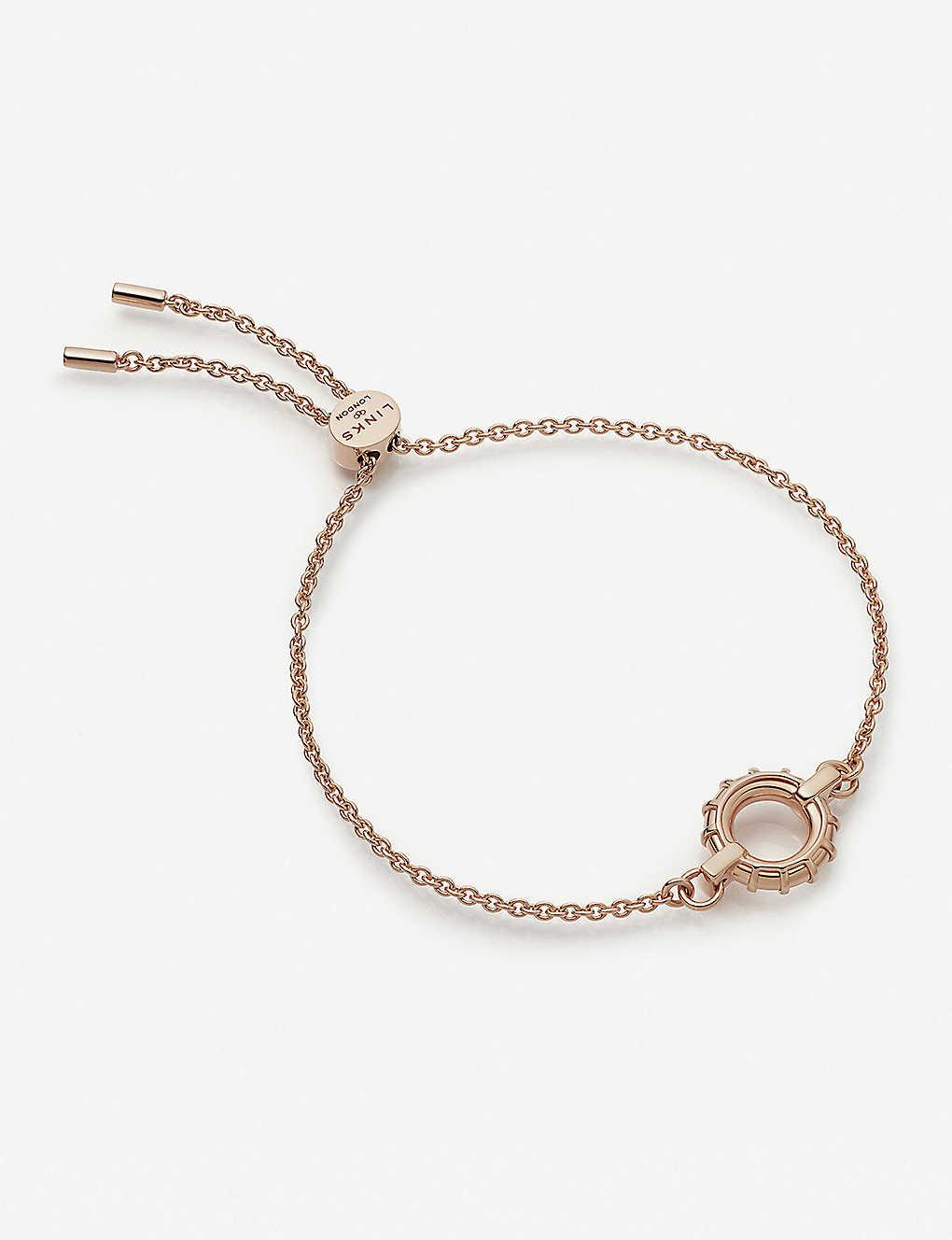 Links Of London Brutalist 18ct Rose Gold Vermeil Toggle Bracelet Selfridges Com