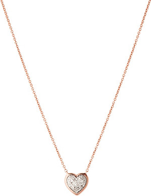 LINKS OF LONDON Diamond Essentials 18ct rose-gold vermeil diamond necklace