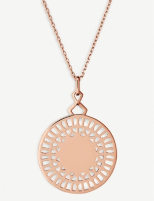 LINKS OF LONDON Timeless cut-out 18ct rose-gold vermeil pendant