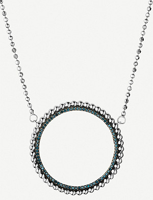 LINKS OF LONDON Effervescence sterling silver and diamond halo necklace