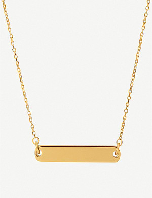 LINKS OF LONDON Narrative 18ct yellow-gold vermeil necklace