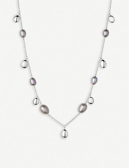 LINKS OF LONDON 希望 STERLING 银和 PEARL 项链