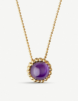 LINKS OF LONDON 18ct yellow-gold vermeil and amethyst necklace