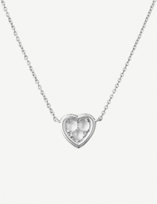 LINKS OF LONDON Heart sterling silver and moonstone necklace