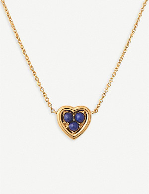 LINKS OF LONDON Heart 18ct yellow-gold vermeil and lapis lazuli necklace
