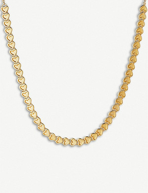 LINKS OF LONDON Endless Love gold vermeil small heart choker