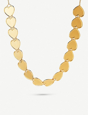 LINKS OF LONDON Heart 18ct yellow-gold vermeil necklace