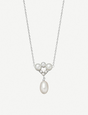 LINKS OF LONDON Orbs sterling silver and pearl necklace