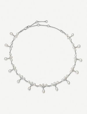 LINKS OF LONDON Orbs sterling silver and pearl choker necklace