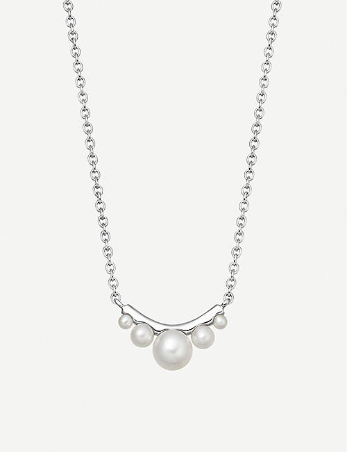 da4742d4af19 LINKS OF LONDON Orbs sterling silver and pearl necklace