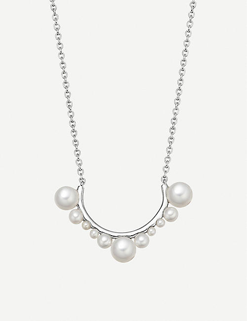 be854a1c61460 LINKS OF LONDON Orbs sterling silver and pearl necklace