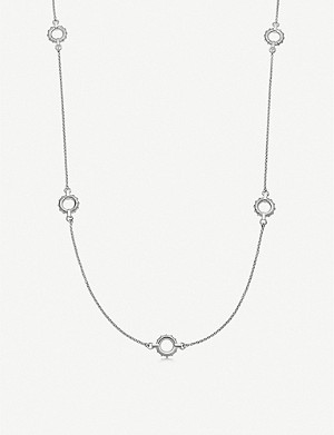 LINKS OF LONDON Brutalist sterling silver multi necklace