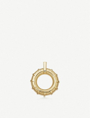 LINKS OF LONDON Brutalist caged 18ct yellow gold-vermeil pendant