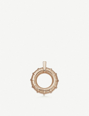 LINKS OF LONDON Brutalist caged 18ct rose gold-vermeil pendant