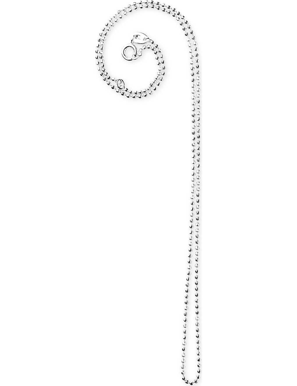 Links Of London Faceted Ball Chain Necklace In Silver