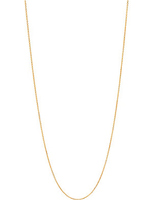LINKS OF LONDON Essentials 18ct gold vermeil cable chain 60cm