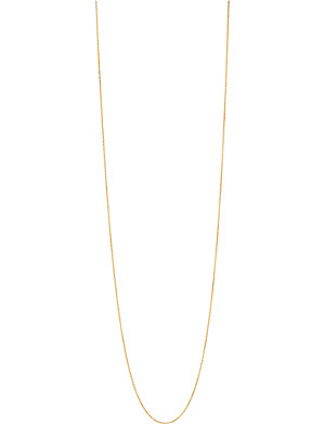 LINKS OF LONDON Essentials 18ct gold vermeil cable chain 80cm