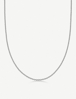 LINKS OF LONDON Brutalist long sterling silver chain necklace