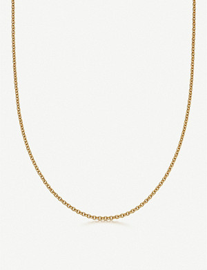 LINKS OF LONDON Brutalist short 18ct yellow gold-vermeil chain necklace