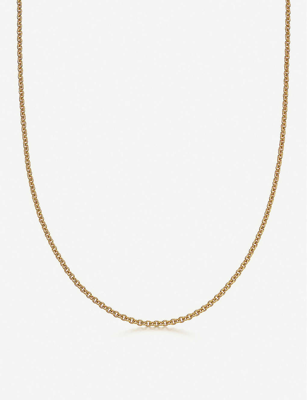 LINKS OF LONDON: Brutalist short 18ct yellow gold-vermeil chain necklace