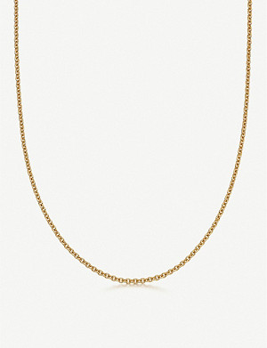 LINKS OF LONDON Brutalist long 18ct yellow gold-vermeil chain necklace