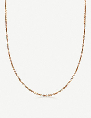 LINKS OF LONDON Brutalist short 18ct rose gold-vermeil chain necklace