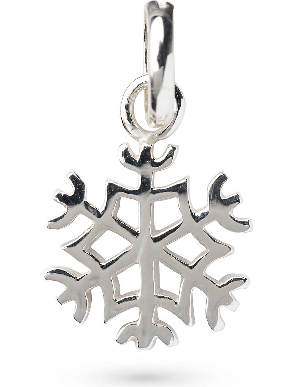 Links Of London Snowflake Sterling Silver Charm In Gray