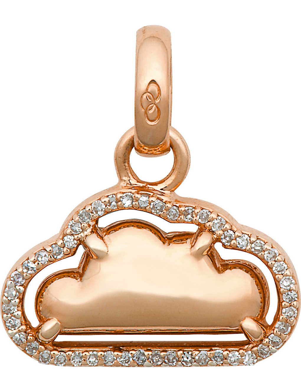0f1328dc8794c LINKS OF LONDON - Silver Lining 18-carat rose gold charm ...