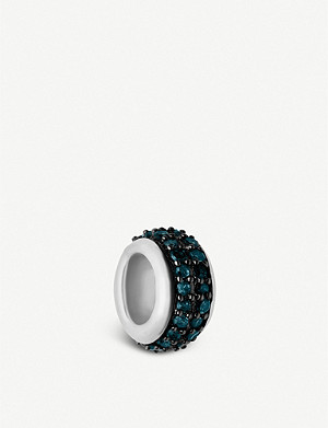 LINKS OF LONDON Sweetie blue diamaond pavé bead