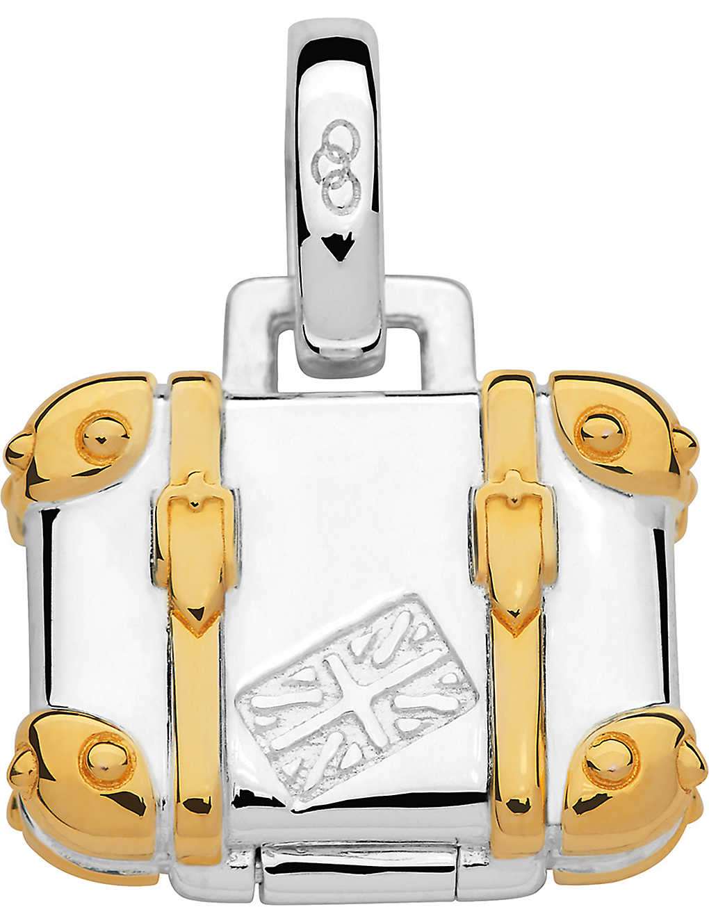 LINKS OF LONDON: Silver and 18ct gold vermeil suitcase charm