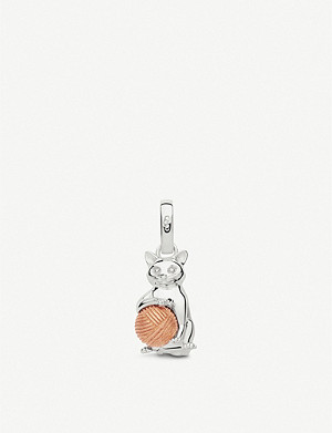 LINKS OF LONDON Cat Ball sterling silver and rose-gold vermeil charm
