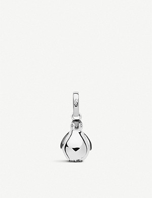 LINKS OF LONDON Sterling silver & black ruthenium penguin charm