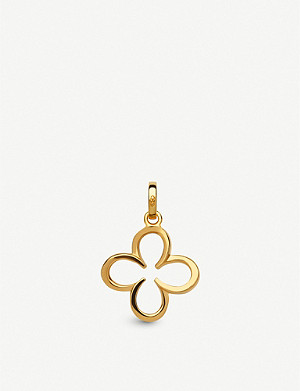 LINKS OF LONDON Ascot 18ct yellow-gold vermeil horseshoe clover charm