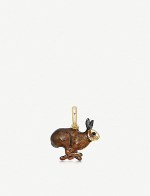 LINKS OF LONDON 18kt gold-vermeil hare charm