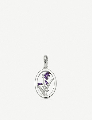LINKS OF LONDON Sterling silver and topaz bluebell charm