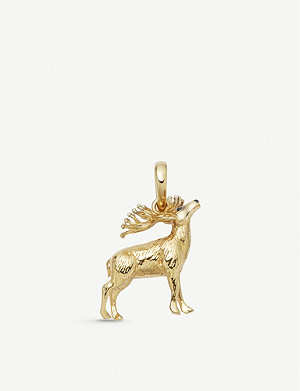 LINKS OF LONDON 18ct gold-vermeil red deer stag charm