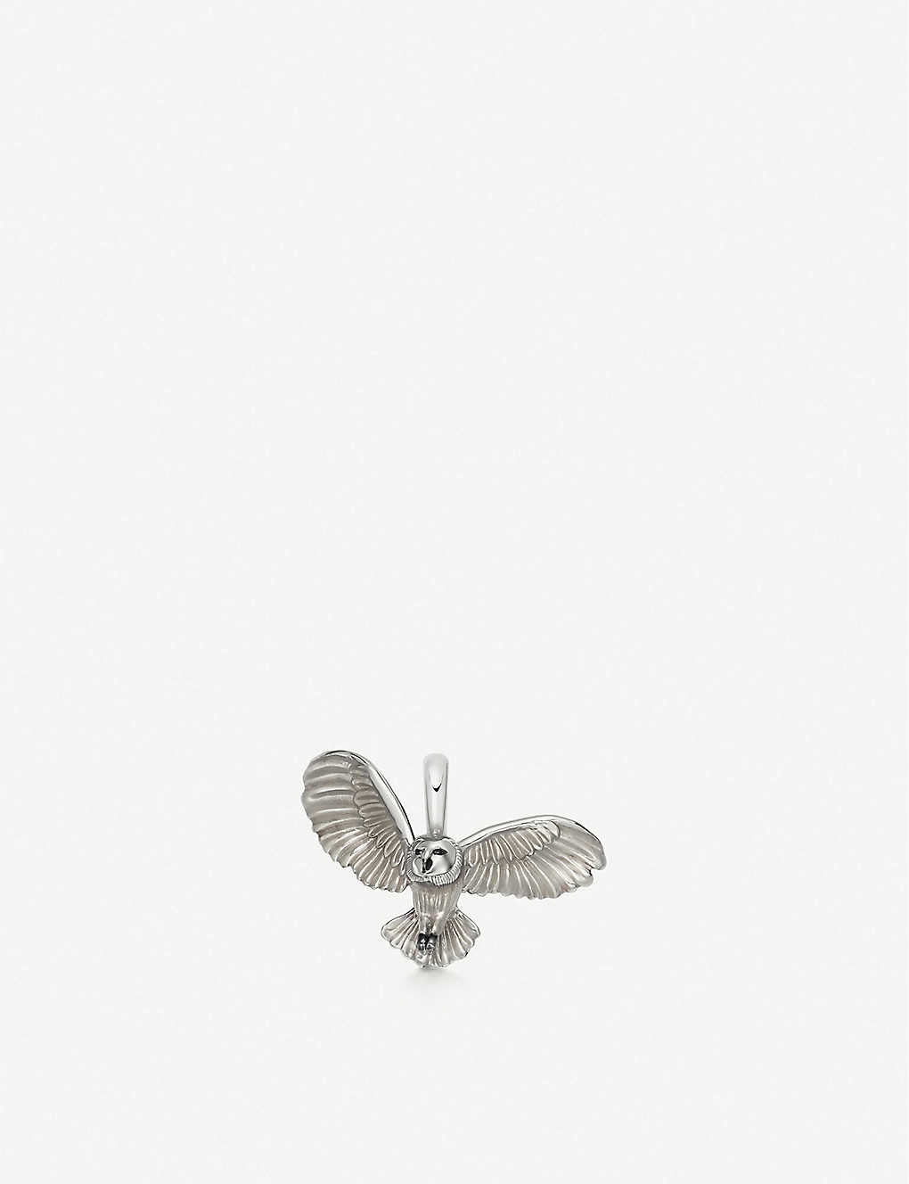 LINKS OF LONDON: Sterling silver and rhodium-plated barn owl charm