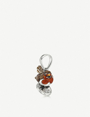 LINKS OF LONDON Sterling silver and topaz robin charm