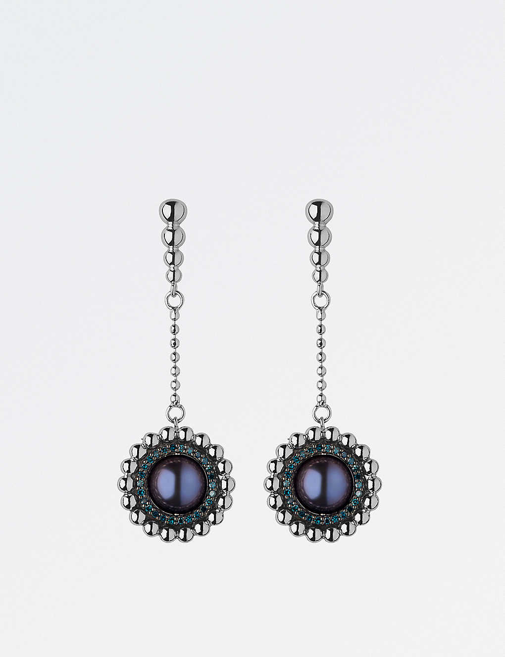 4a0a4c4f0 LINKS OF LONDON Effervescence sterling silver, diamond and pearl drop  earrings