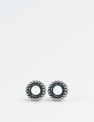 LINKS OF LONDON Effervescence sterling silver and blue diamond stud earrings