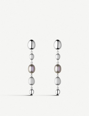 LINKS OF LONDON Hope sterling silver and pearl drop earrings