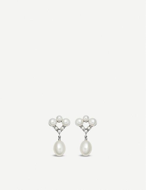 7712ba94413 LINKS OF LONDON Orbs Sterling silver and pearl drop earrings