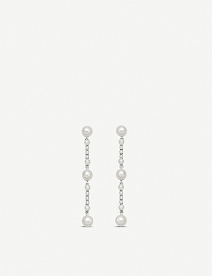 LINKS OF LONDON Orbs sterling silver and pearl drop earrings
