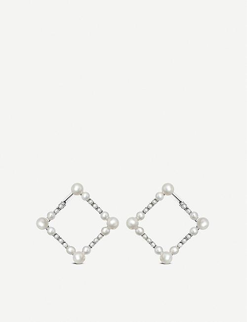 Black Beautiful Ladies Boxed Brand New Bangle White Bracelet By Buckingham Silver