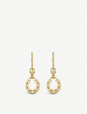 LINKS OF LONDON Links of London x Ascot horseshoe 18ct gold-vermeil drop earrings
